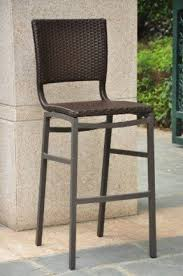 outdoor counter height stools. Barcelona Resin Wicker Outdoor Bar Height Chairs Stools (SET OF2) Counter