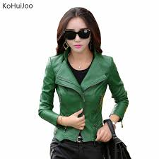 kojoo m 5xl autumn winter women leather jackets plus size las faux leather motorcycle biker