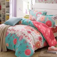 cute comforters sets inexpensive blue patterned queen teen bedding 1
