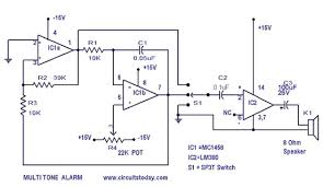 simple alarm circuit with diagram multi tone sound Simple Alarm Circuit Diagram alarm circuit alarm circuit diagram simple alarm circuit diagram with relay