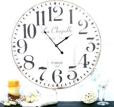 large round wall clock white big clocks kits uk oversized