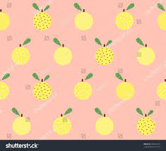 cute fruit wallpaper. Unique Wallpaper Cute Fruit Orange With Dot Design On Smooth Green Background Pattern  Seamless Wallpaper Vector Image  EZ Canvas In Fruit Wallpaper
