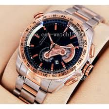 discount two tone rose gold watch 2017 two tone rose gold watch hot men s sport watch silver rose gold two tone top brand quartz stopwatch luxury chronograph watches stainless steel wristwatch 112