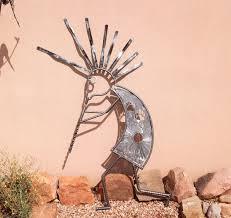 custom made garden art home decor outdoor sculpture kokopelli recycled art on southwest outdoor metal wall art with handmade garden art home decor outdoor sculpture kokopelli
