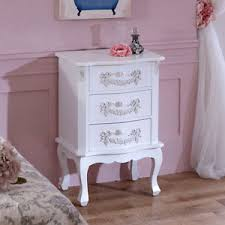 white chic bedroom furniture. Image Is Loading White-Wooden-Bedside-Table-Chest-Drawers-Shabby-French- White Chic Bedroom Furniture K