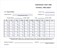 Payroll Time Sheets Free - April.onthemarch.co