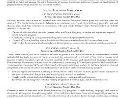 Sample Special Education Teacher Resume Lab Assistant Sample Resume