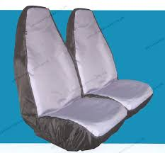 waterproof tailored to fit seat covers in grey