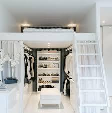 lits mezzanine loft intrieur amnagement dressing rangement chaussures