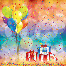 Happy Birthday Background Images Happy Birthday Background With Balloon And Gifts Royalty Free