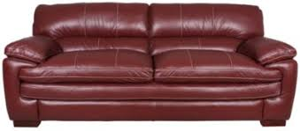 red leather furniture. Contemporary Leather LaZBoy Dexter 100 Leather Red Sofa On Furniture E
