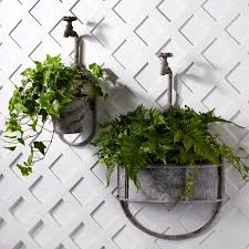 outdoor wall flower planters designs