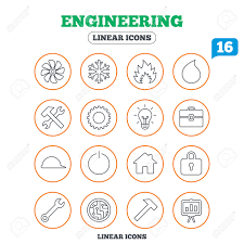 air conditioning services icon. engineering icons. ventilation, heat and air conditioning symbols. water supply, repair service services icon