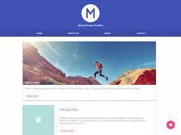 Material Design Website Template Material Portfolio A Material Design Portfolio Template