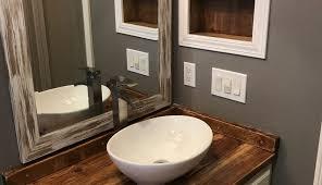 bathroom grey countertop kraftmaid ideas illuminated vessel storage unit sinks pine for top designs countertops