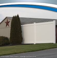 Vinyl privacy fence Ft Superior Plastic Products Cambridge Vinyl Privacy Fence Superior Plastic Products