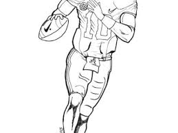 49 Football Players Coloring Pages Printable Football Player