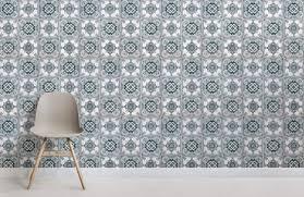 light green portuguese tile effect