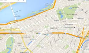 google map emerald necklace copley square and boston commons