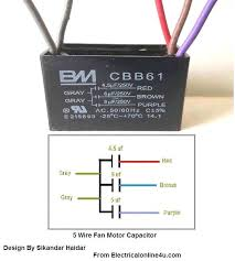 ceiling fan capacitor 5 wire harbor breeze cbb61 fan capacitor 5 wire diagram for wiring z3