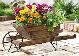adorable wooden cart planter wooden cart ideas