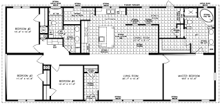 Interior: Four Bedroom Mobile Homes L 4 Bedroom Floor Plans Within 4  Bedroom Mobile Home