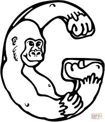 Letter G Is Voor Gorilla Kleurplaat Gratis Kleurplaten Printen