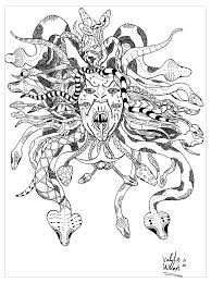 Small Picture Medusa par valentin Myths legends Coloring pages for adults