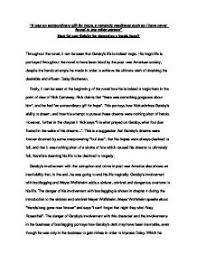 the great gatsby critical essay piece a level english marked page 1 zoom in