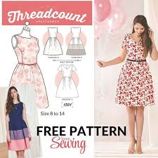 Sewing Patterns For Dresses Extraordinary FREE DOWNLOAD Threadcount 48 In 48 Dress Pattern Dress Patterns