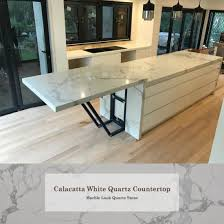 artificial staturior marble look engineered white quartz stone benchtop for