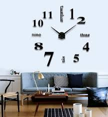 large office wall clocks. wall clock seetru modern diy large number frameless mirror surface sticker kit decoration home with mute function for office clocks i