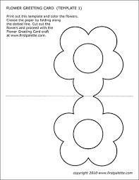 These free, printable easter cards are a great way to spread some easter joy to the special people in your life, especially the ones you won't get to see these free easter cards look great when printed on cardstock but also look nice on regular computer paper. Flower Greeting Card Templates Free Printable Templates Coloring Pages Firstpalette Com