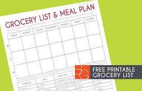 Printable Grocery List Meal Planner Download Them Or Print