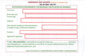 Hiatus How To Get A Barangay Certificate Of Indigency