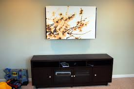 use an art canvas to cover a television tulipandturnip