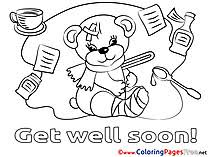 Small Picture Get well soon coloring cards