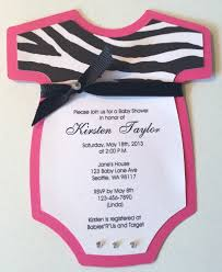 Invitations Hot Pink Zebra Example Baby A Sweet Girl Is On Example Pink Zebra Baby Shower Invitations