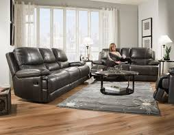 Reclining Living Room Furniture Sets Corinthian Brooklyn Charcoal Reclining Sofa And Loveseat My