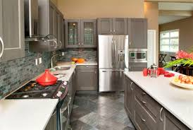 West Vancouver - A monochromatic gray kitchen contemporary-kitchen