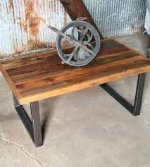 patchwork reclaimed wood coffee table reclaimed timber from a midwest barn create a coffee table reclaimed