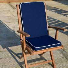 navy seat pad back chair cushion and