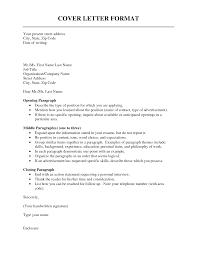 sample cover letter format proper cover letter format sample a in Cover Letter Guidelines