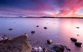 Desktop Wallpaper Beach Pink Sunset Hd ...