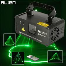 Green Laser Projector Light Alien Dmx 100mw Green Laser Stage Lighting Scanner Effcet Xmas Bar Dance Party Show Light Dj Disco Laser Projector Lights Small Stage Lighting Dmx