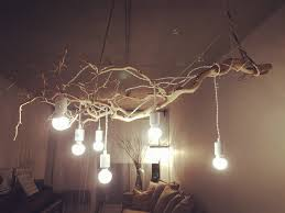 branch chandelier lighting. my favourite diy branch chandelier made by just branches and simple light bulbs very low lighting y