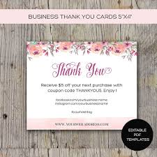 Business Thank You Card Printable Diy Instant Download Great For Etsy Sellers Printable Packaging Cards Online Store Notes