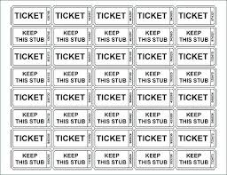 Template Avery Ticket Printing Template Printable Tickets Free