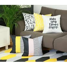 Throw Pillow Cover Designs Scandi Square Mirror Design Printed Decorative Throw Pillow Cover Home Decor Pillowcase 18x18
