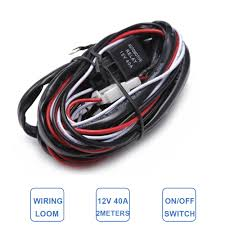 popular wiring driving lights buy cheap wiring driving lights lots 2meters car light extention wiring harness loom kit auto suv boat refit worklight driving fog lamp